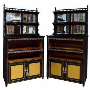 Pair of Aesthetic Movement cabinets c1880 Antique Cabinets