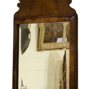 Queen Anne walnut cushion mirror Antique Mirrors