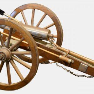 Scale Model of 19th Century Field Gun Antique Guns