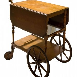 Vintage mahogany tea trolley with drop down flaps Antique Furniture