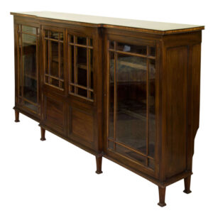 19thC Break Front Bookcase or Side Cabinet Antique Cabinets
