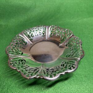 Shallow Pierced Bonbon dish, 1905 Sheffield, Roberts & Belk Antique Silver