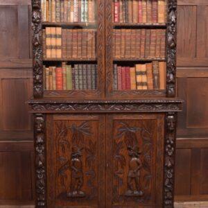Oak Continental Bookcase SAI2371 Antique Bookcases