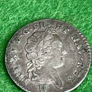 """LOUIS XV """" ISLES DU VENT Douze sols 1731 La Rochelle Coins 2"""
