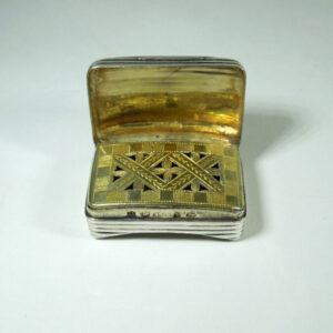 Silver Vinaigrette Hallmarked Birmingham 1805 Antique Boxes