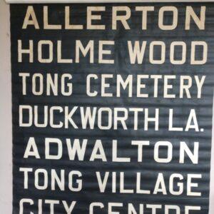 Very rare Bradford Bus Blind 1960's Allerton Duckworth Lane Tong Adwalton Holme Wood bedford Classic Cars & Vehicles 2