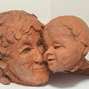 Scottish Mother With Baby Bust Terracotta Signed Sculpture After Archibald Knox baby Antique Sculptures 3