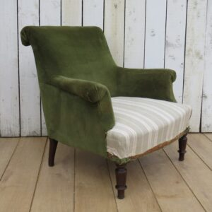 Antique French Scroll Top Armchair armchair Antique Chairs