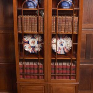 Edwardian Mahogany Display Cabinet / Bookcase SAI2368 Antique Bookcases