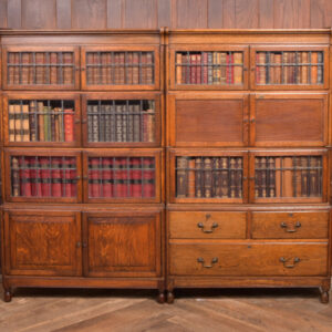 Pair Of Oak Sectional Bookcases SAI2379 Antique Bookcases