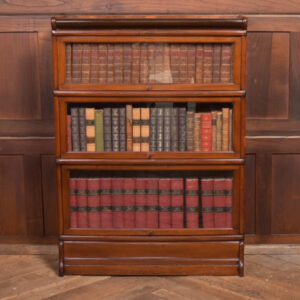 Red Walnut Globe Wernicke 3 Sectional Bookcase SAI2380 Antique Bookcases