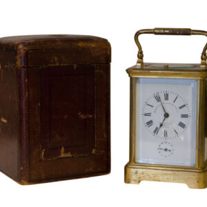 A 1/2 hour Striking & Repeating Carriage Clock with alarm Antique Clocks