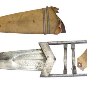 "A 19thC ""scissors"" Katar in original scabbard Antique Knives"