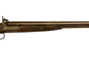 A Double Barrelled 12 Bore Percussion Fowling Piece Antique Guns