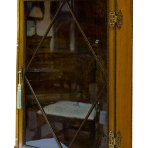 A fine quality edwardian glazed satinwood corner cabinet Antique Cabinets
