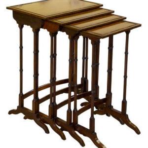 A good set of mahogany Quartetto Tables Antique Tables