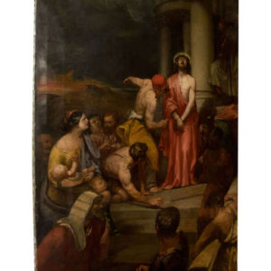 A Large Oil Painting of Jesus Antique Art
