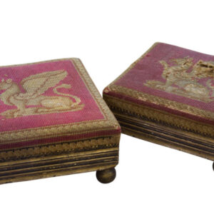 A Pair of Regency Parcel Gilt Footstools Antique Furniture