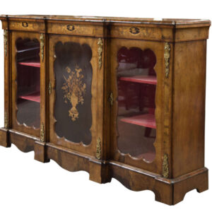 A Victorian walnut, marquetry and gilt mounted Cabinet Antique Cabinets