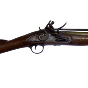An English Early 19thC Brass Barrelled,Flintlock Blunderbuss Antique Guns