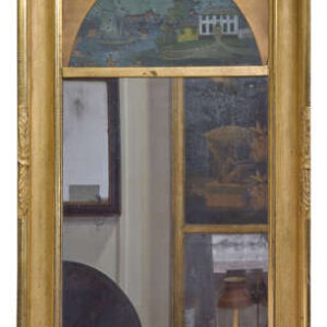 Decorative 19th century pier glass in gift frame Antique Mirrors