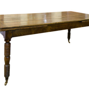 Mid 19thC French Elm Draw Leaf Table Antique Furniture