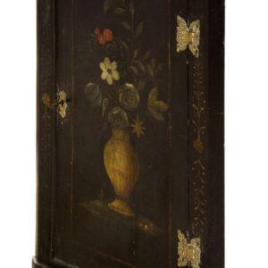 Rare early Georgian decorated corner cupboard Antique Cupboards