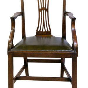 Set of 8 mahogany country Chippendale chairs Antique Chairs