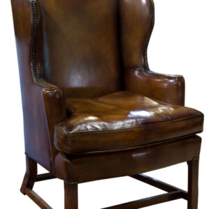 18thC Oak Framed Wing Chair C1760 sitting room Antique Chairs