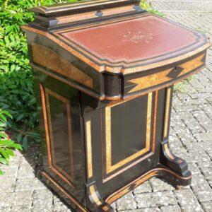 Victorian Davenport – ebony and amboyna circa 1870 amboyna Antique Desks