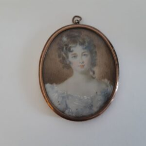 19th Century miniature watercolour of a Miss Croker Miscellaneous