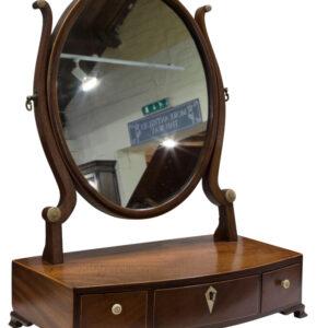 A Georgian Oval mahogany dressing table Mirror Dressing table mirror Antique Mirrors