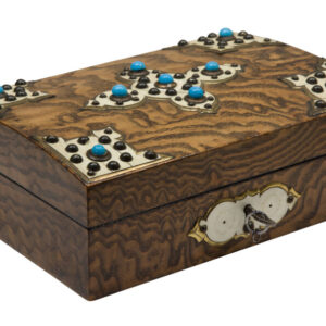 An Anglo-Indian finely inlaid Stationary Box stationary box Miscellaneous