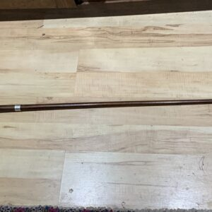 Gentleman's walking stick sword stick with silver collar hallmarked Chester 1912 Miscellaneous