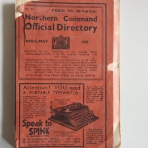 Very Rare 1939 World War 2 Northern Command Official Telephone Directory 5,000+ entries inc RAF churchill Antique Collectibles