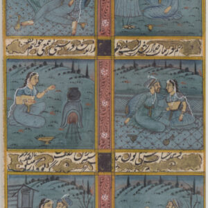 Indian Painting with Lovers and Hunting Scenes Indian Painting Antique Art