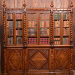 Victoria Oak Barley Twist Bookcase SAI2427 Antique Bookcases