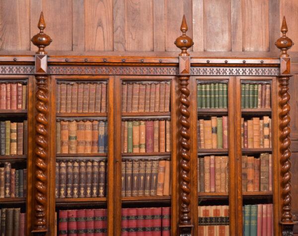 Victoria Oak Barley Twist Bookcase SAI2427 Antique Bookcases 6
