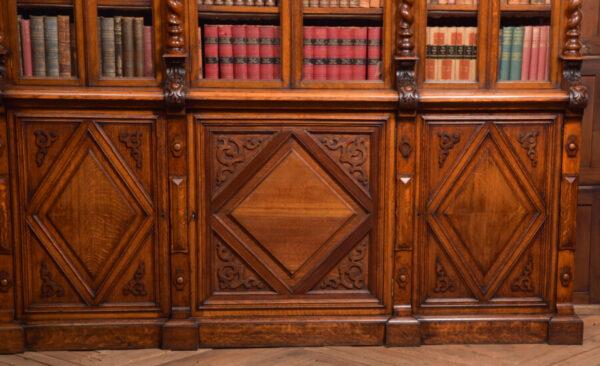Victoria Oak Barley Twist Bookcase SAI2427 Antique Bookcases 7