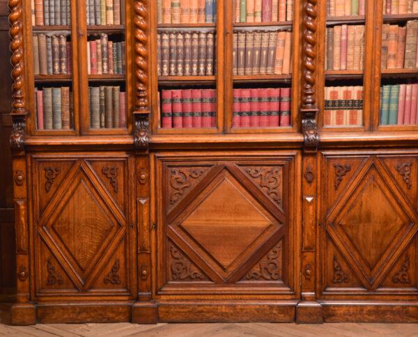 Victoria Oak Barley Twist Bookcase SAI2427 Antique Bookcases 8