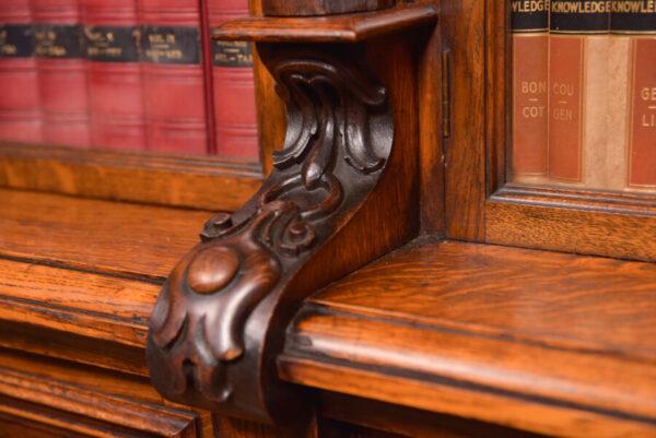 Victoria Oak Barley Twist Bookcase SAI2427 Antique Bookcases 17