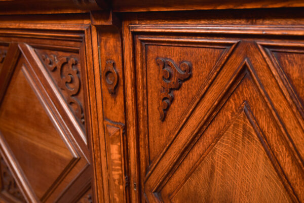 Victoria Oak Barley Twist Bookcase SAI2427 Antique Bookcases 15