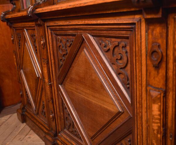 Victoria Oak Barley Twist Bookcase SAI2427 Antique Bookcases 14