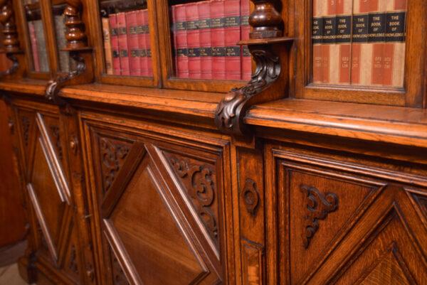 Victoria Oak Barley Twist Bookcase SAI2427 Antique Bookcases 13