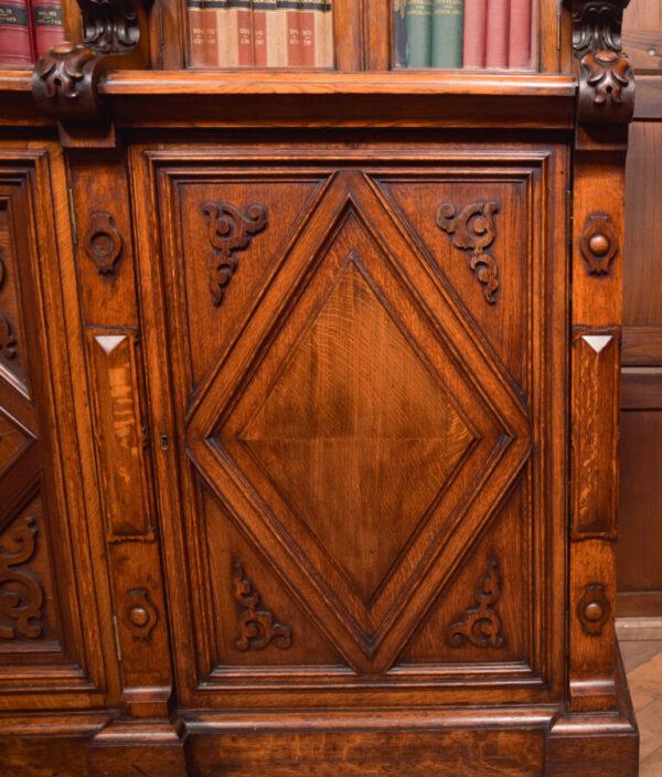Victoria Oak Barley Twist Bookcase SAI2427 Antique Bookcases 25