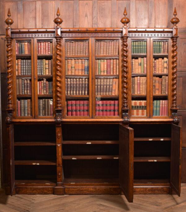 Victoria Oak Barley Twist Bookcase SAI2427 Antique Bookcases 36