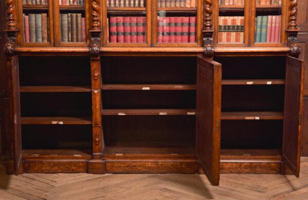 Victoria Oak Barley Twist Bookcase SAI2427 Antique Bookcases 35