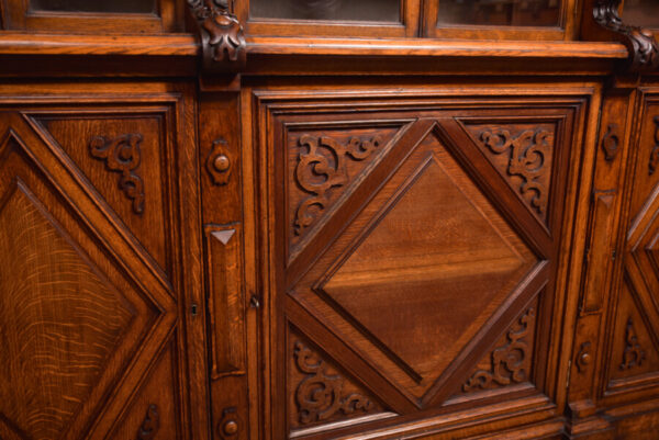 Victoria Oak Barley Twist Bookcase SAI2427 Antique Bookcases 30