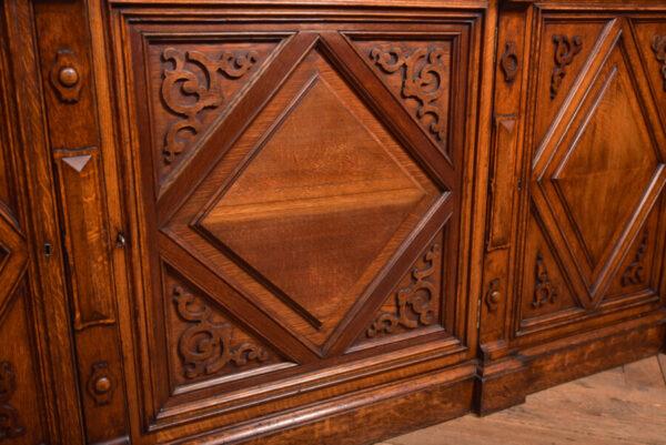 Victoria Oak Barley Twist Bookcase SAI2427 Antique Bookcases 29