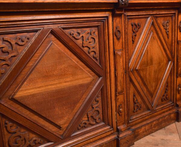 Victoria Oak Barley Twist Bookcase SAI2427 Antique Bookcases 28